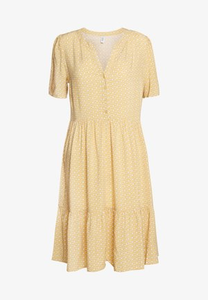 Shirt dress -  yellow combi