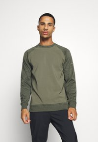 Nike Golf - DRY PLAYER CREW - Mikina - medium olive/sequoia - 0
