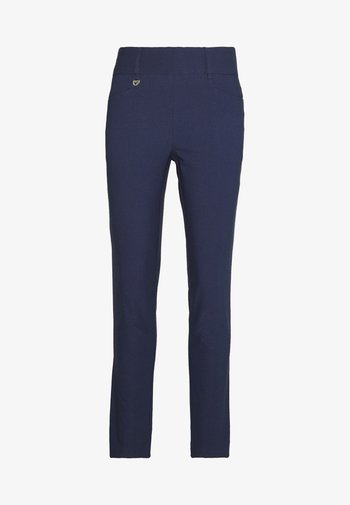 CHEV PULL ON TROUSER - Trousers - peacoat