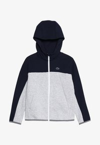 Lacoste - veste en sweat zippée - navy blue/silver chine - 3