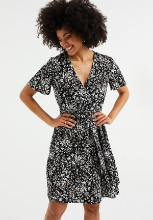 MET BLOEMENDESSIN - Day dress - black