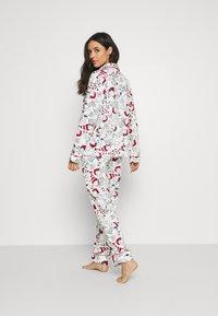Women Secret - LONG SLEEVES MASCULINE SET - Pyžamová sada - white - 2