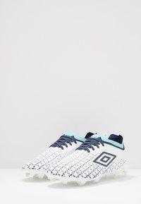 Umbro - VELOCITA V PRO FG - Moulded stud football boots - white/medieval blue/blue radiance - 2