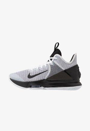 LEBRON WITNESS IV - Basketball shoes - white/black