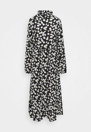 HIGH NECK DRESS - Vapaa-ajan mekko - black