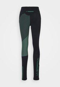La Sportiva - SUPERSONIC PANT  - Tights - black/grass green - 1