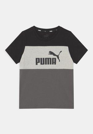 COLORBLOCK TEE UNISEX - Print T-shirt - black