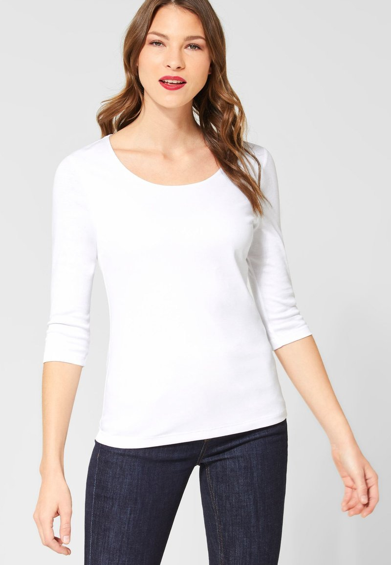 Street One - Long sleeved top - white