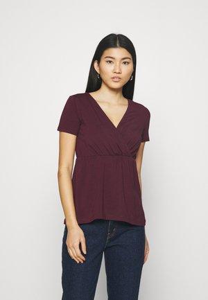 T-shirts basic - dark red