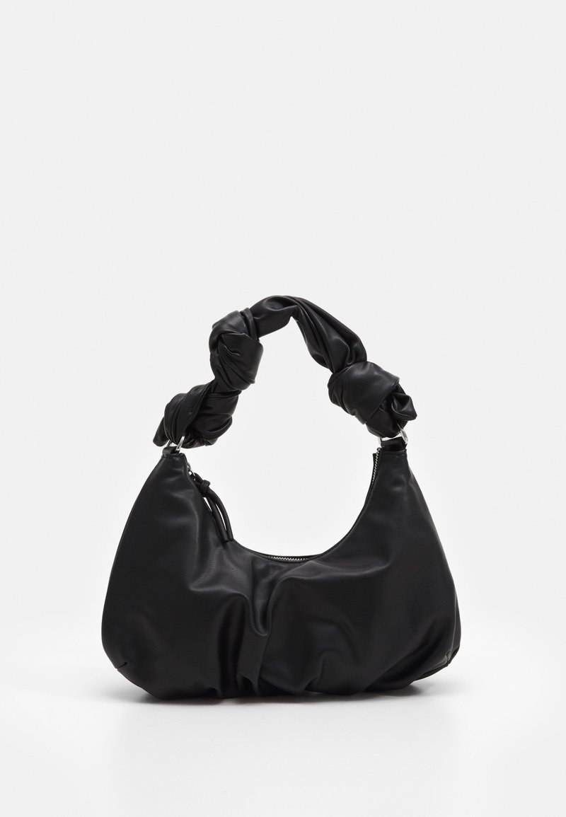 Topshop - KNOTTED SHOULDER - Handbag - black