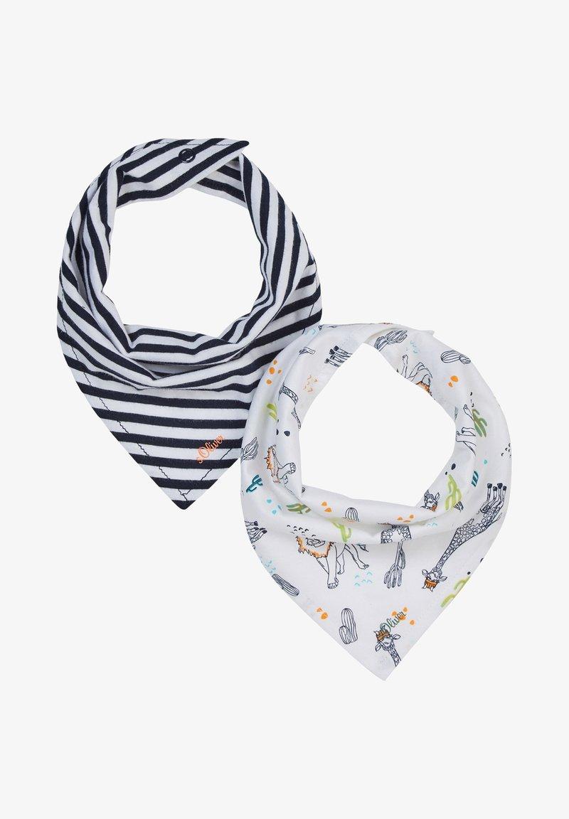 s.Oliver - 2 PACK - Bib - dark blue stripes/white aop