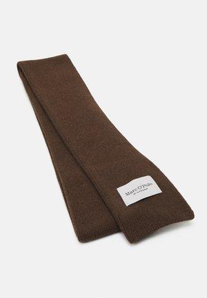 SCARF CLEAN EDGES LOGO BADGE - Szal - nutshell brown