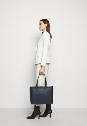 LARGE ZIP TOP WORK TOTE - Tote bag - nightcap dark blue