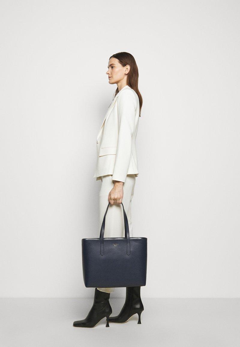 kate spade new york - LARGE ZIP TOP WORK TOTE - Tote bag - nightcap dark blue