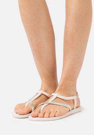 CLASS WISH - Sandály s odděleným palcem - beige/gold