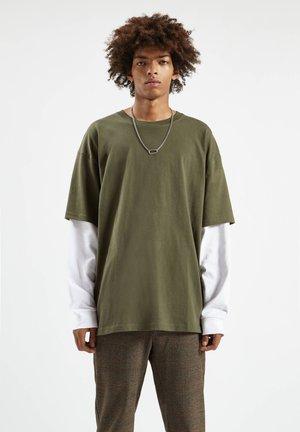 Top sdlouhým rukávem - dark green