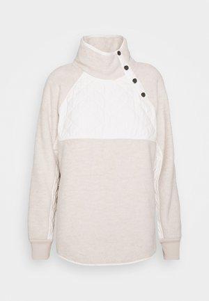 ASYMETRICAL SNAP - Fleece jumper - cream/cream