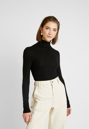 PCKAROLINE ROLLNECK - Long sleeved top - black