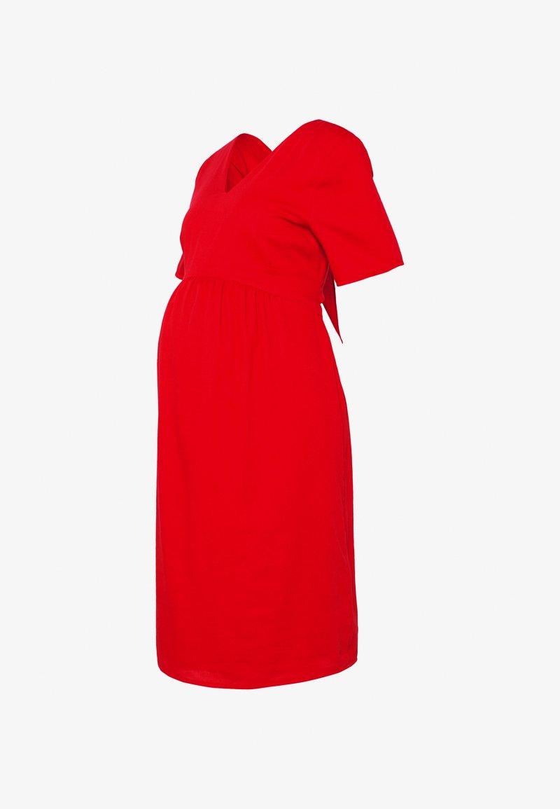 Paula Janz Maternity - DRESS CARIBBEAN NIGHT - Day dress - red marsala