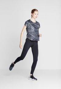 adidas Performance - OWN THE RUN TEE - Sports shirt - grefou/black - 1