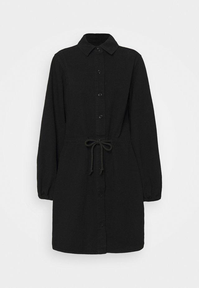 COLOURBLOCK DRESS - Denimové šaty - black