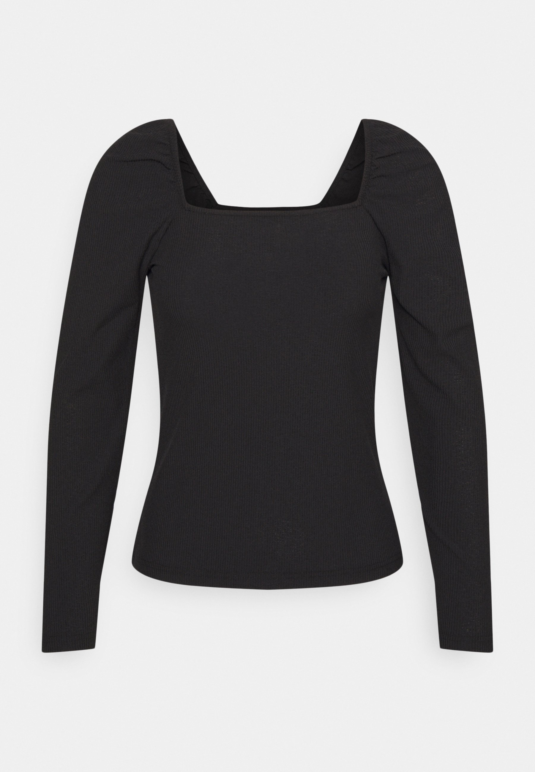 Women SQUARE NECK LONG SLEEVE TOP - Long sleeved top