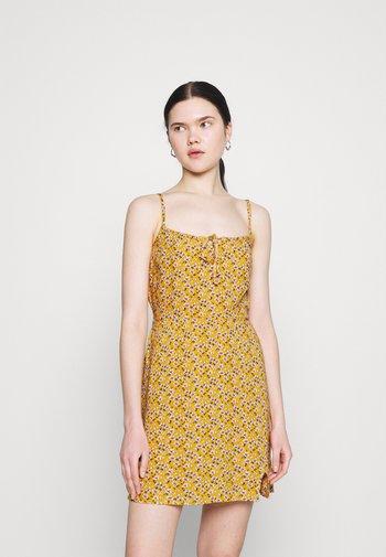 BARE DRESS - Korte jurk - yellow floral