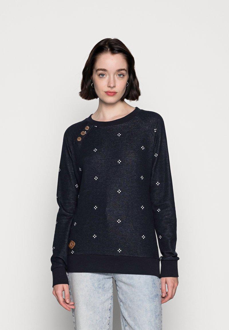 Ragwear - DARIA DOTS - Sweatshirt - navy