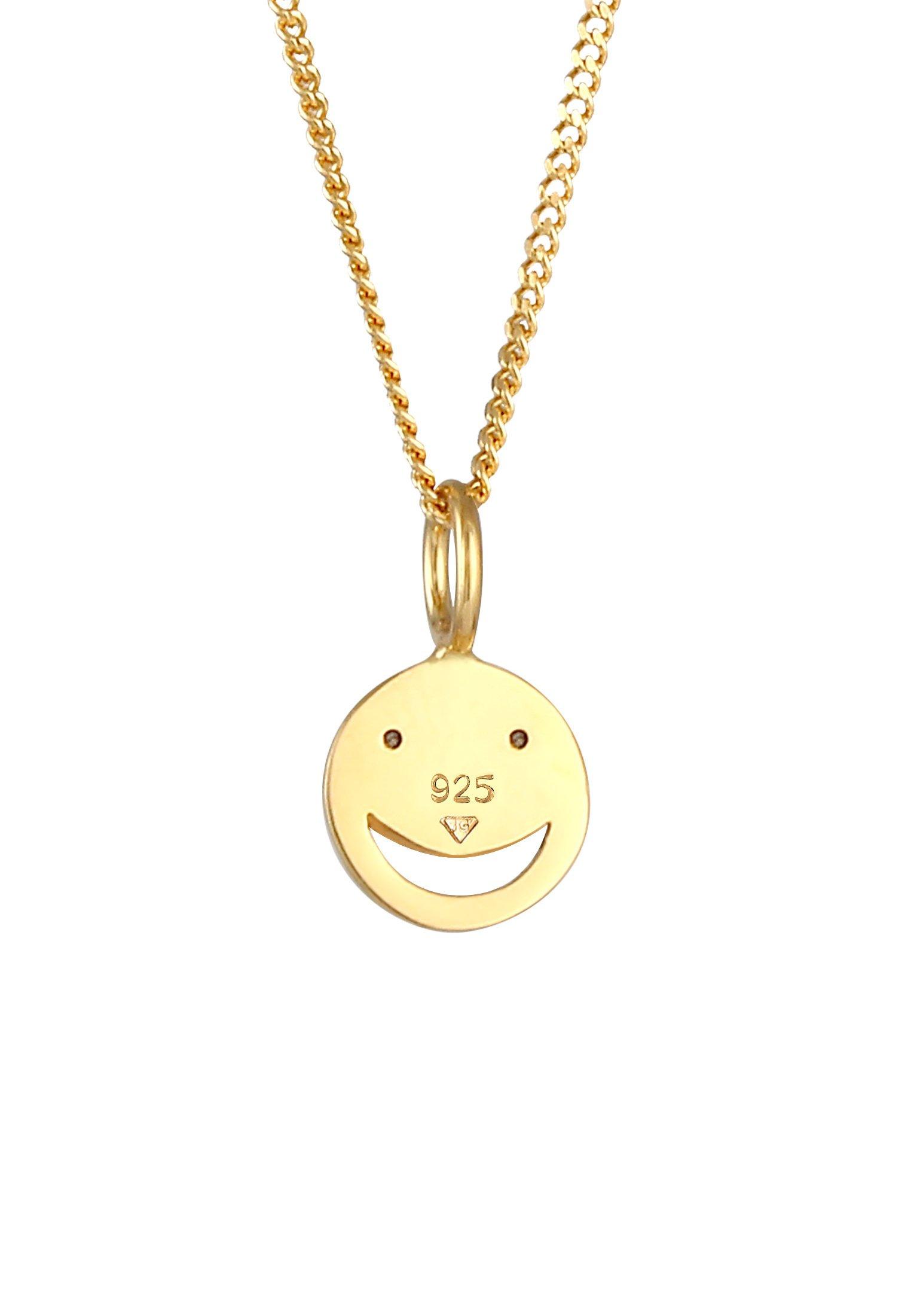 Elli Face Emoji - Halskette Gold