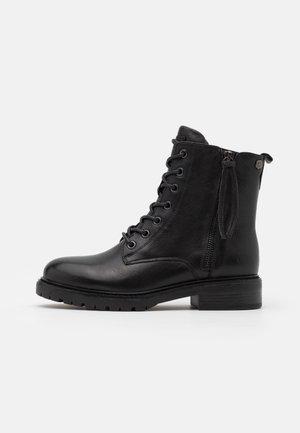 LADIES BOOTS  - Nauhalliset nilkkurit - black