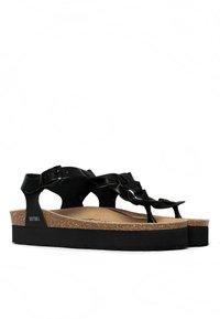 BAYTON - T-bar sandals - black - 1
