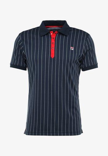 STRIPES - Treningsskjorter - peacoat blue/white