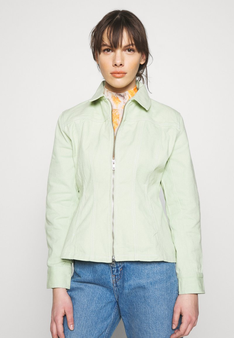 HOSBJERG - RUTH - Denim jacket - mint green
