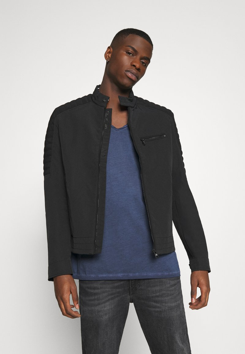 Calvin Klein - CASUAL NYLON BIKER BLOUSON - Summer jacket - black