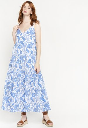FLOWER PRINT - Maxi-jurk - white