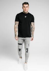 SIKSILK - SKINNY FIT ACID WASH WITH DISTRESSING - Jeans Skinny Fit - snow wash grey - 0