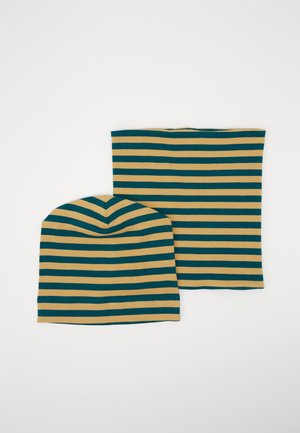 KAI HAT + SUSU ROUND SCARF SET - Bonnet - teal/curry