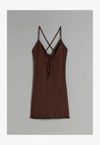 Bershka - Shift dress - brown - 3