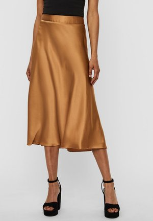 VMCHRISTAS - A-line skirt - tobacco brown