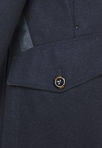 G-Star - BIKER LONG COAT - Classic coat - mazarine blue - 2