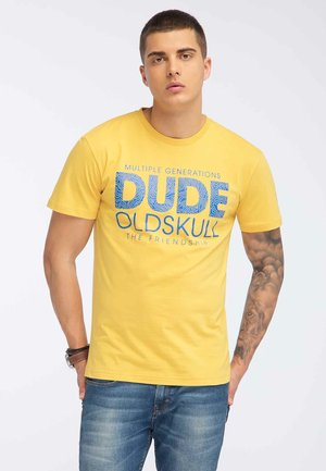 OLDSKULL T-SHIRT PRINT - T-shirt print - yellow
