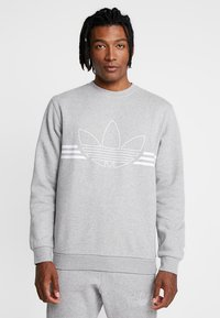 adidas Originals - OUTLINE PULLOVER - Sudadera - medium grey heather - 0