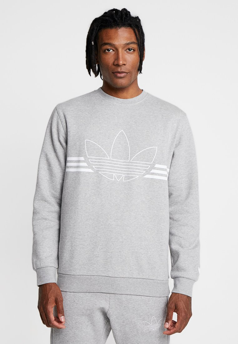 adidas Originals - OUTLINE PULLOVER - Sudadera - medium grey heather