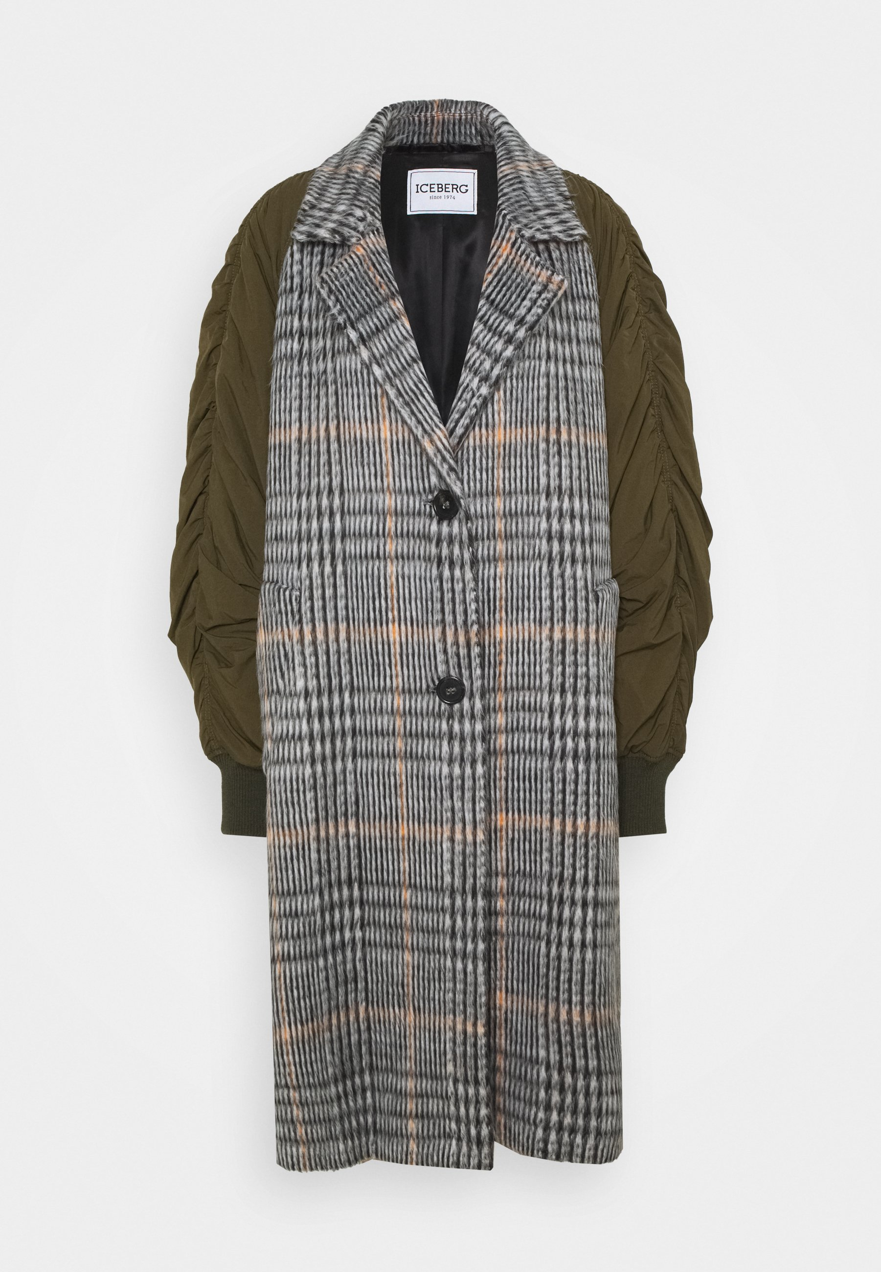 Women CHECKED MIXED MEDIA COAT - Classic coat