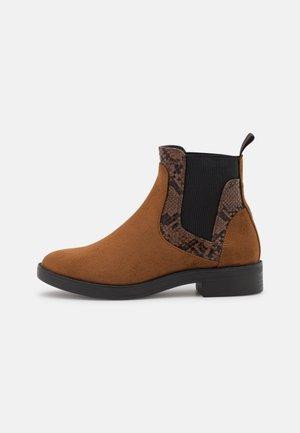 ONLBIBI MIX ELASTIC BOOT  - Ankle boot - cognac