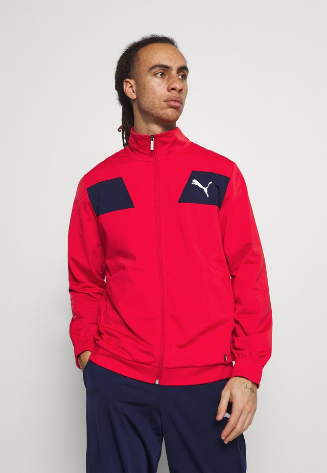 TECHSTRIPE TRICOT SUIT - Chándal - high risk red