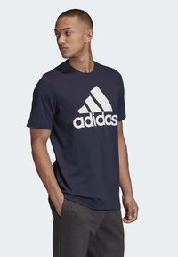 adidas Performance - MUST HAVES BADGE OF SPORT T-SHIRT - Print T-shirt - blue - 3