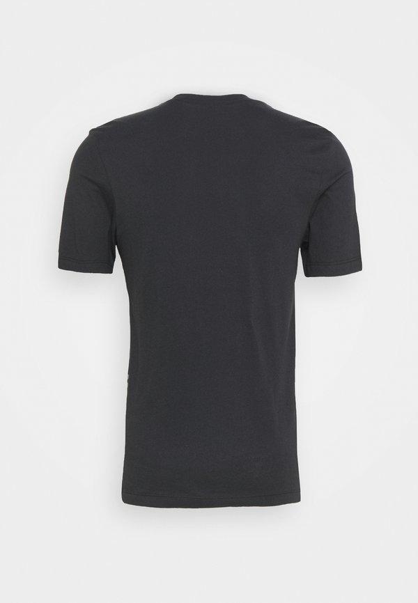 Nike Sportswear TEE - T-shirt z nadrukiem - black/white/czarny Odzież Męska UTXQ
