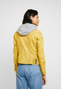 Gipsy - NOHLA - Leather jacket - yellow - 2