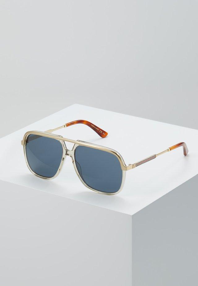 Lunettes de soleil - brown/gold-coloured/blue